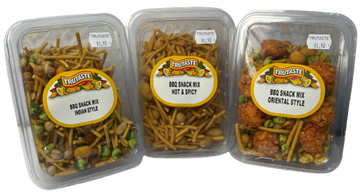 BBQ Snack Mix (Indian, Hot & Spicy, Oriental)