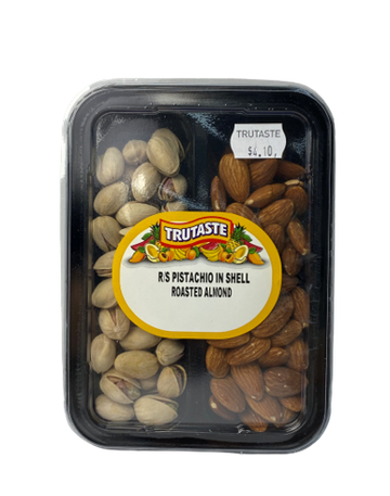 Roasted and Salted Pistachios & Roasted Almonds