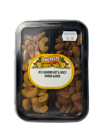 R/S Cashews Hot and Spicy & Smoked Almonds