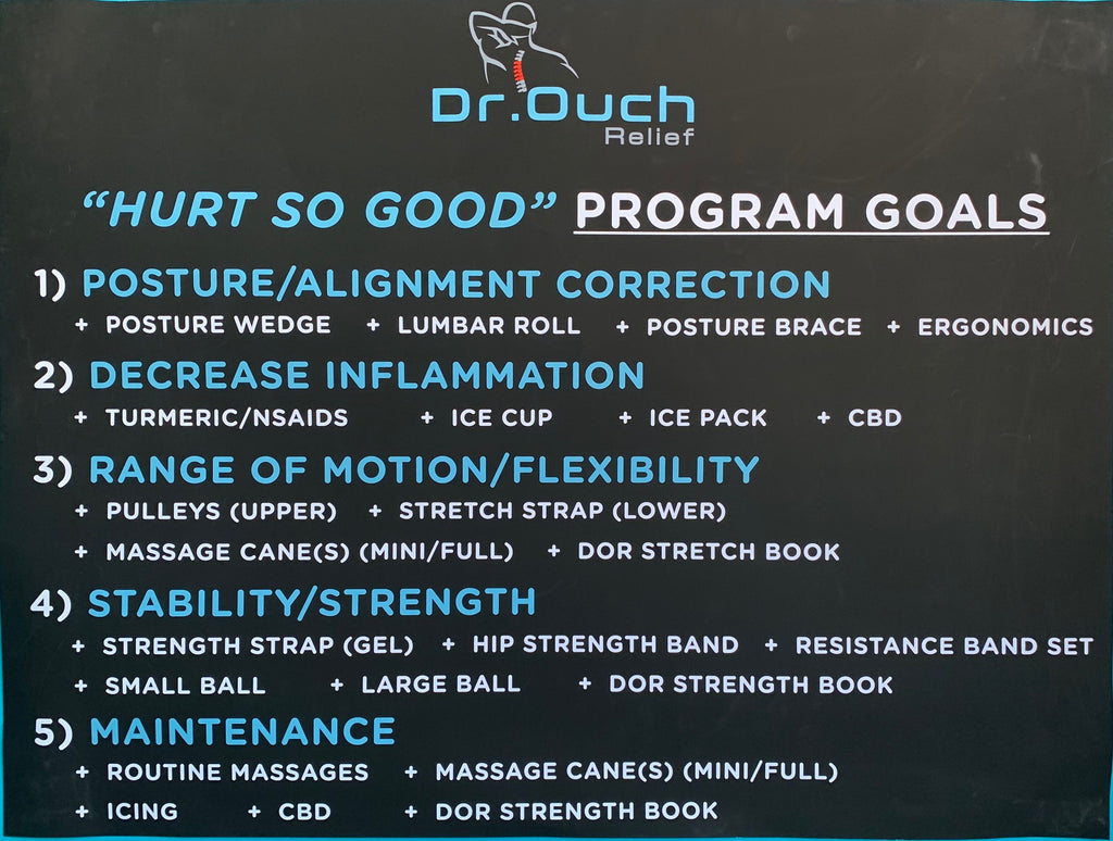"Dr. Ouch Relief ""Hurt So Good"" Program Goals"