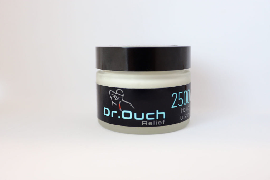 "2500mg 2oz Dr. Ouch Relief ""Elite"" CBD Topical Cream"