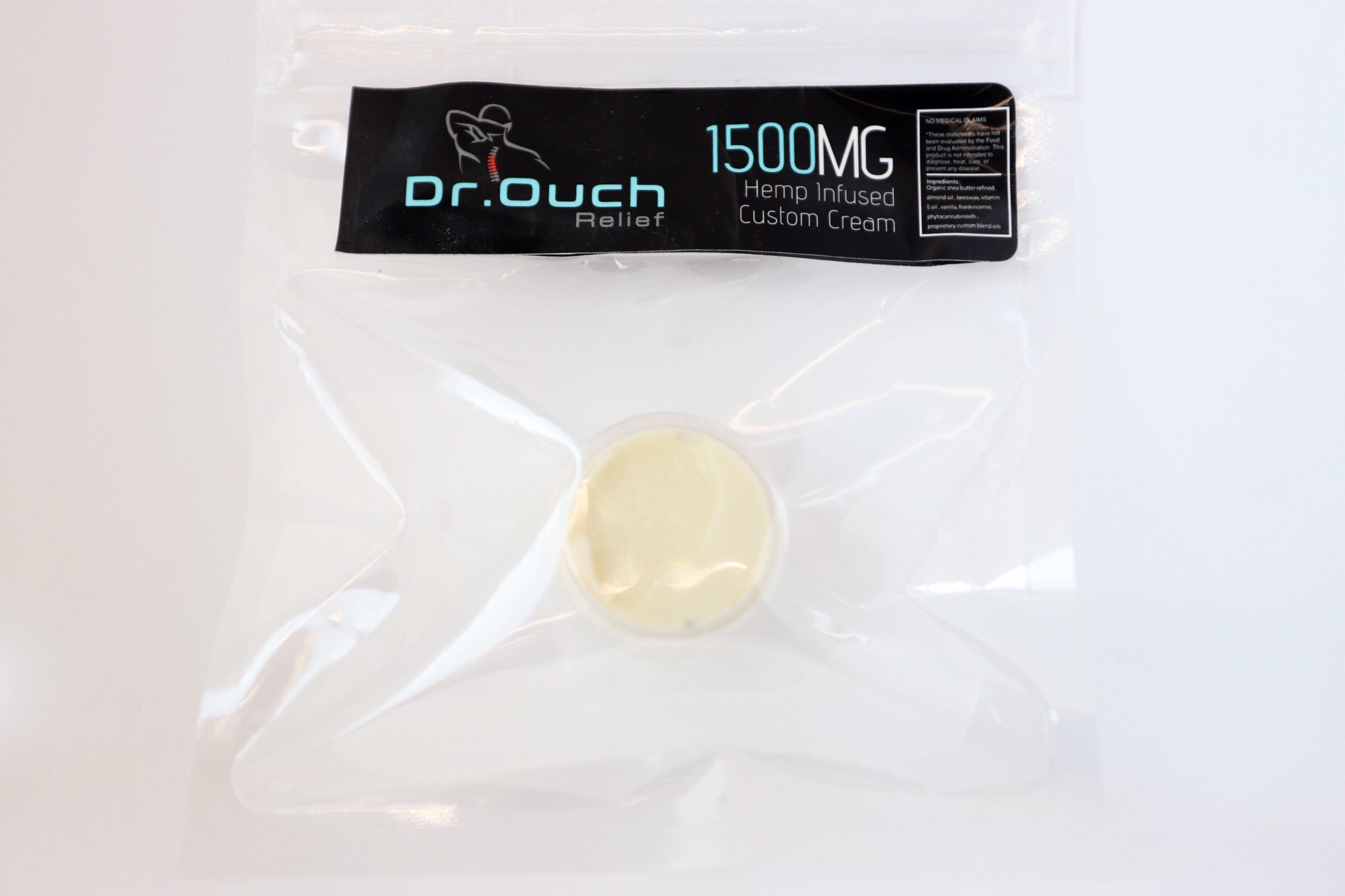 "1500mg ⅛oz Dr. Ouch Relief ""Essential"" CBD Topical Sample Cream (no menthol)"