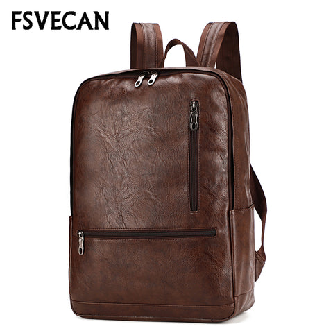 Laptop Leather Backpack