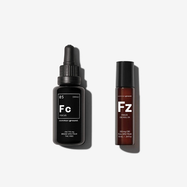Common Ground Health Combo Pack FOCUS + FREEZE Kit