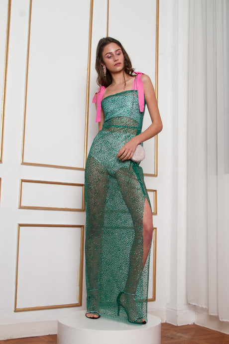 Dâ Basic Glitter Green Dress