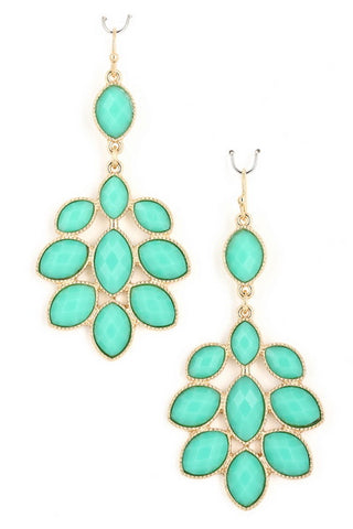 Acrylic Jewel Earrings- 2 Color Options