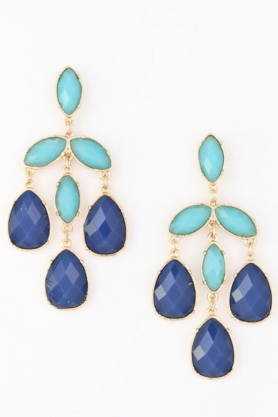 Acrylic Tear Drop Ombre Earrings-2 Color Options