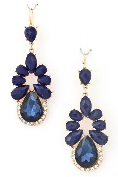 Sapphire Blue Teardrop Earrings