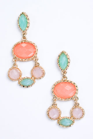 Gorgeous Jewel Dangle Earrings