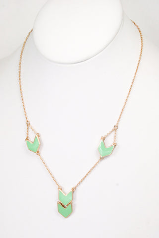 Chevron Drop Necklace-3 Color Options