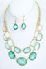 Acrylic Jewel Necklace and Earrings