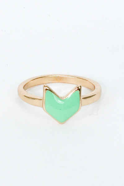 Chevron Arrow Ring- 2 Color Options