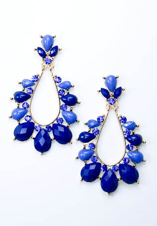 Acrylic Detailed Teardrop Earrings-2 Color Options