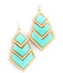 Chevron Cascade Drop Earrings