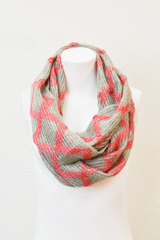 Diamond Print Infinity Scarves-2 Color Options