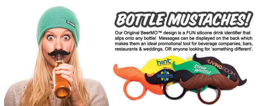 beermo Bottle mustaches