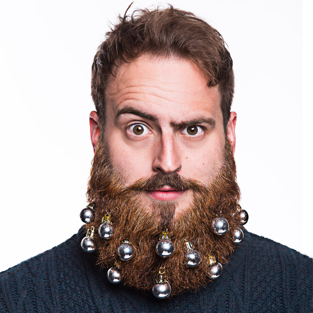 beard baubles beard decorations - Christmas Beard