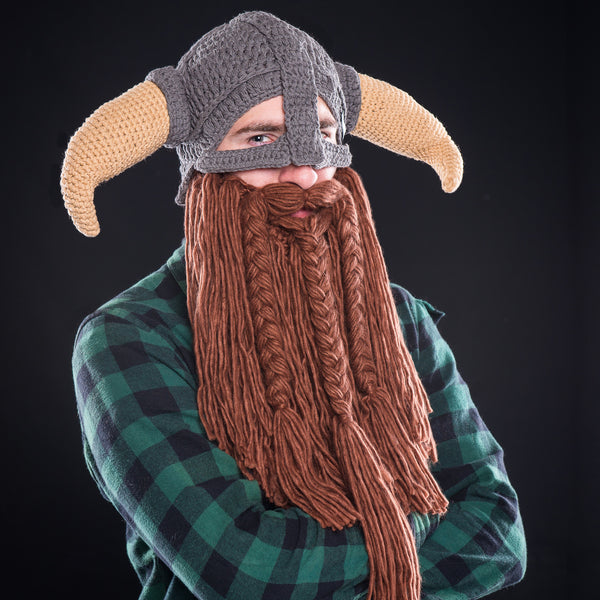 Battle Viking Beard Hat Beardo