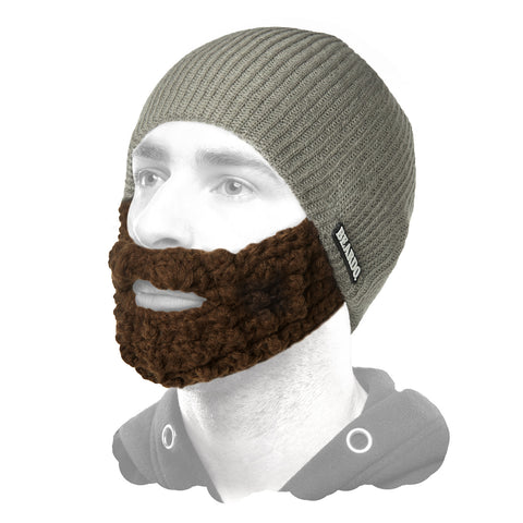 Beard Hat Grey (Attached Brown)