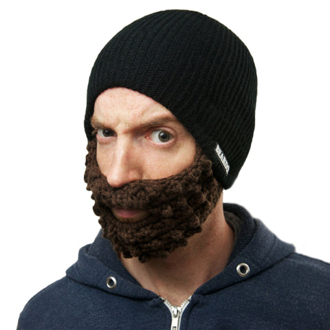 Beard Hat Black (Attached Brown)