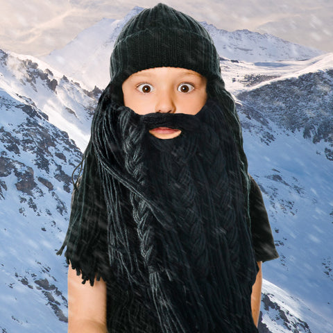 Kids Long Viking Beard Hat