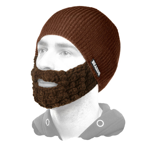 Beard Hat Dark Brown (Attached Brown)