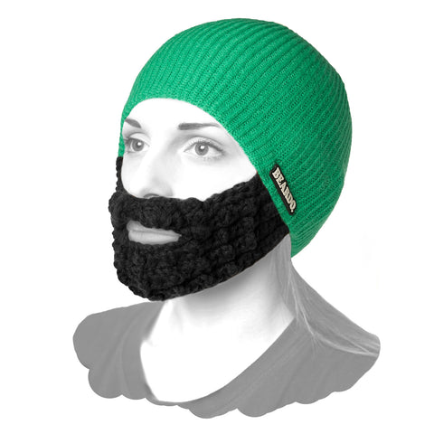 Beard Hat Green (Attached Black)