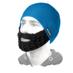 beard hat blue