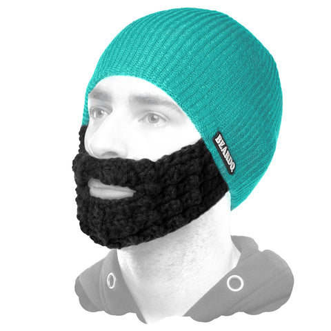 Beardo Teal (Attached Black)