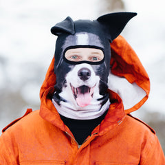 collie dog ski mask