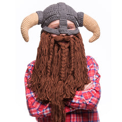 battle viking beard hat