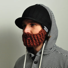 Peak rider beard hat