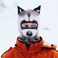 raccoon ski mask with ears