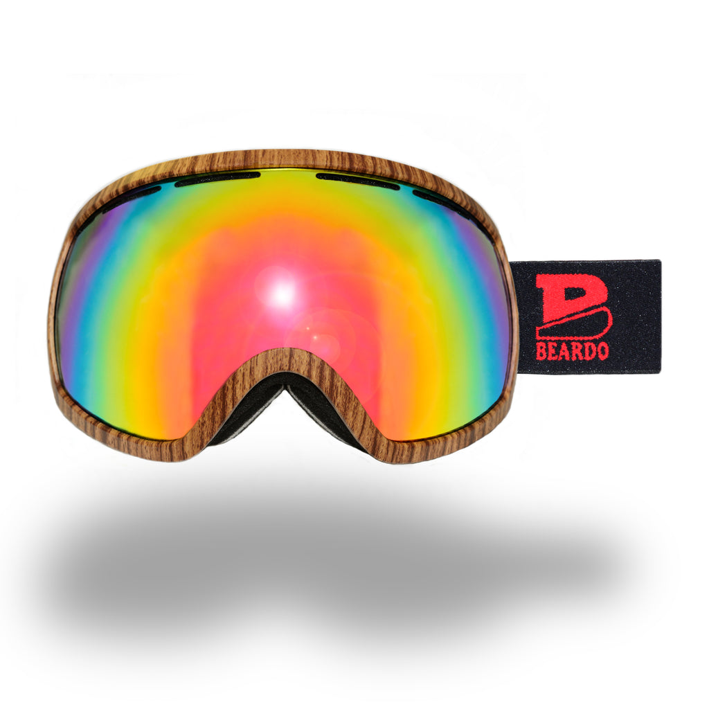 be nice ski goggles  Wood Ski Goggle Set