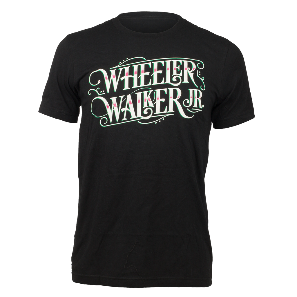 Wheeler Walker, Jr. Black Logo Tee