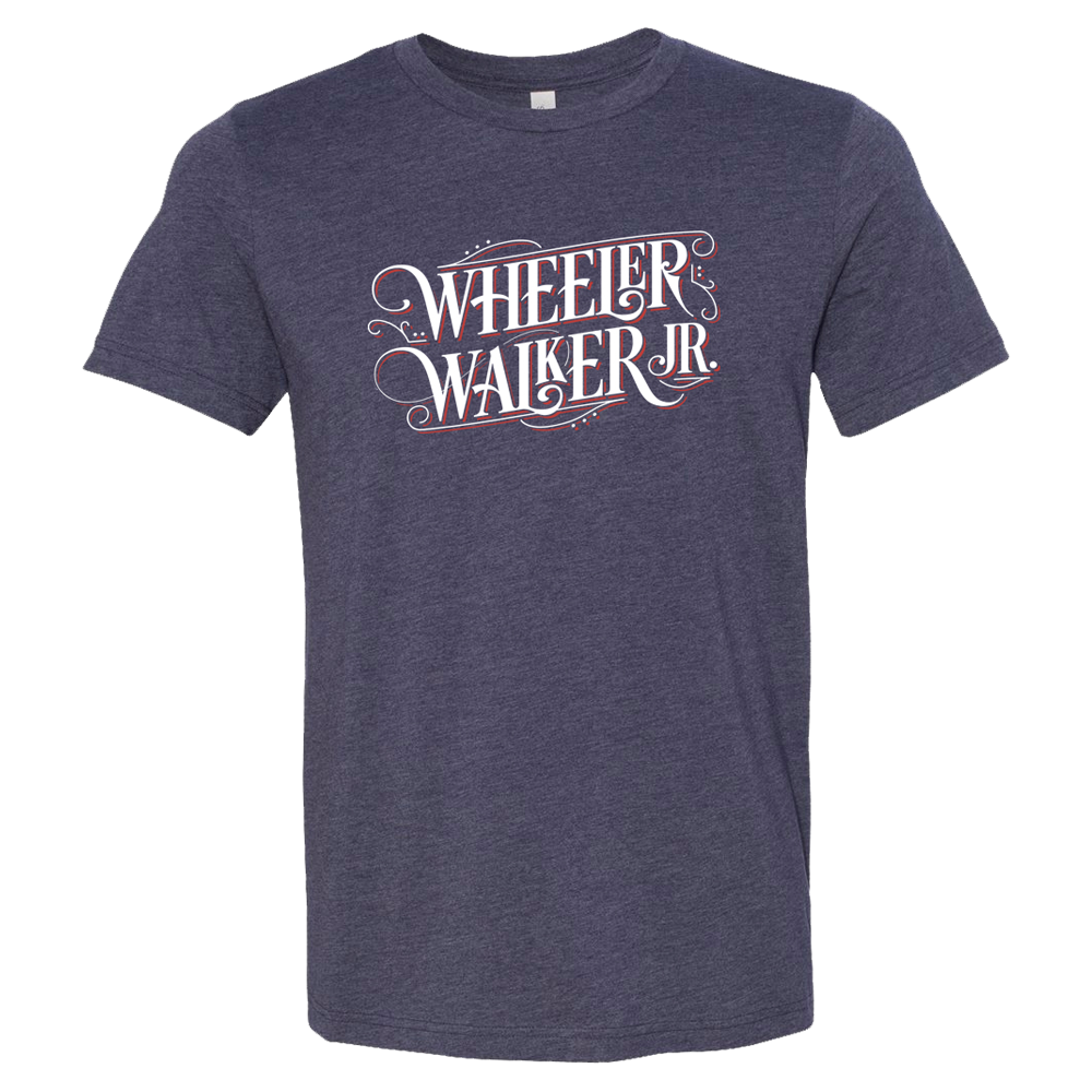 Wheeler Walker, Jr. Navy Logo Tee