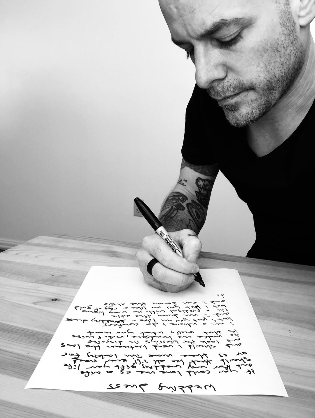 Handwritten Lyric Sheet - ISTUD
