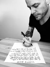 Load image into Gallery viewer, Handwritten Lyric Sheet - The Ringing Bell