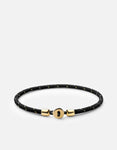 Miansai Nexus Rope Bracelet, Gold Vermeil, Polished Black/Gold
