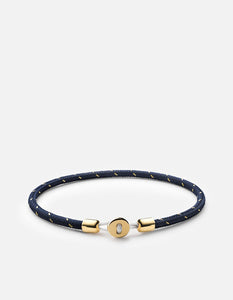 Miansai Nexus Rope Bracelet, Gold Vermeil, Polished Navy/Gold