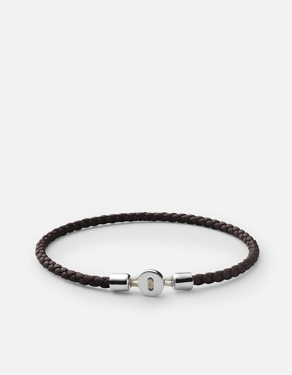 Miansai Nexus Leather Bracelet, Sterling Silver, Polished