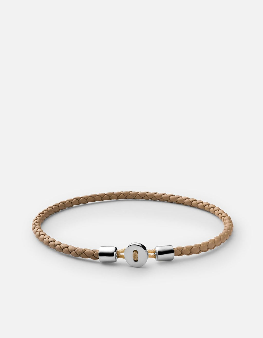 Miansai Nexus Leather Bracelet, Sterling Silver, Polished Natural