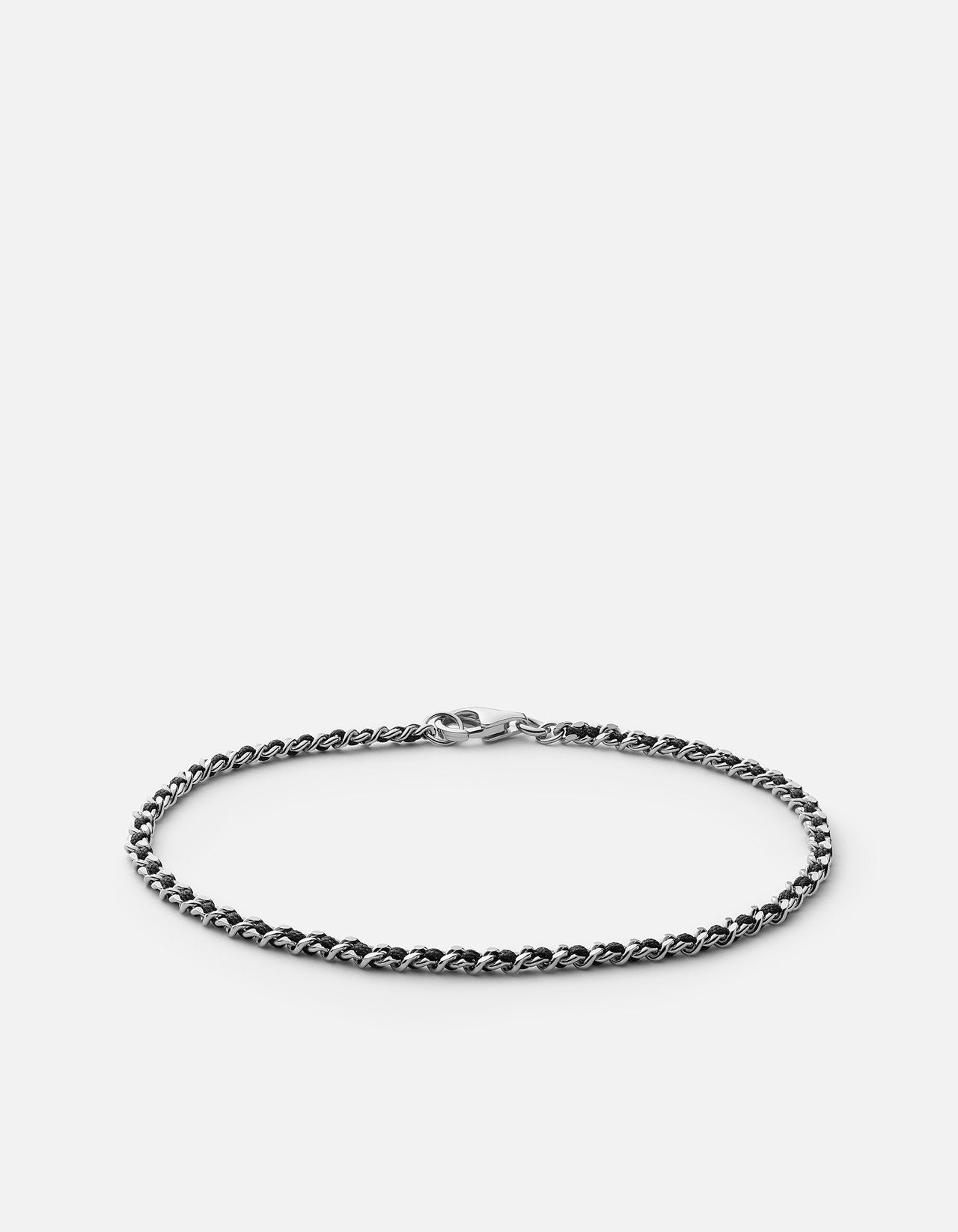 Miansai 2mm Braided Chain Bracelet, Sterling Silver, Polished
