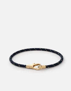Miansai Knox Rope Bracelet, Gold Vermeil, Polished Navy/Gold