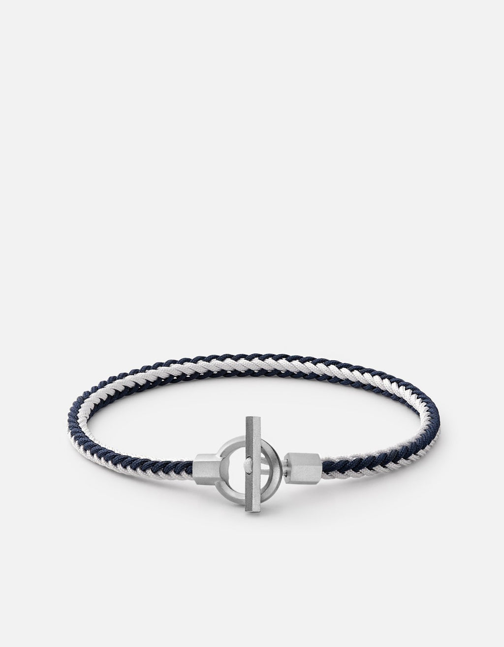 Miansai Atlas Rope Bracelet, Sterling Silver Navy/White