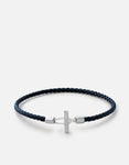 Miansai Vice Leather Bracelet, Sterling Silver, Polished