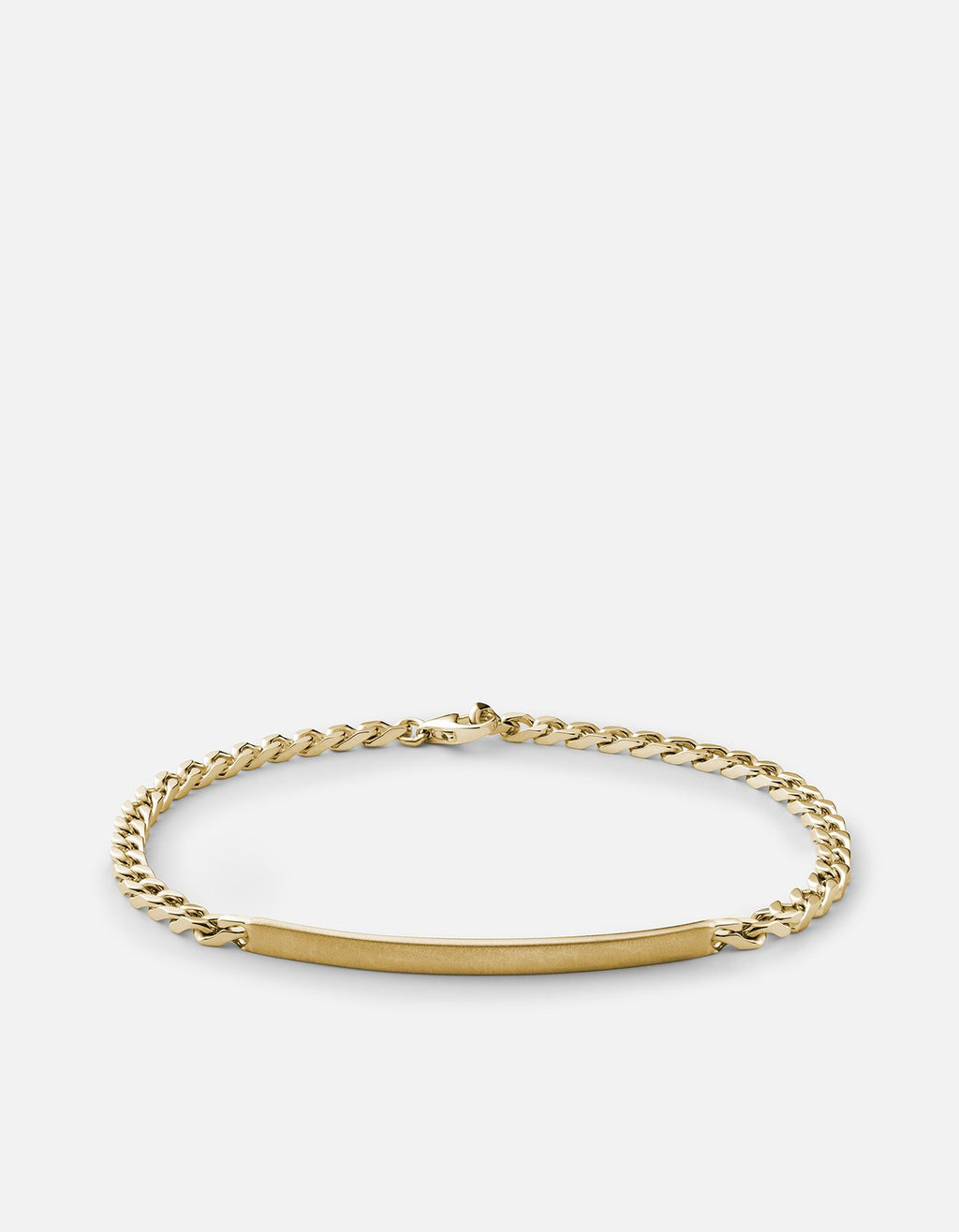 Miansai ID Chain Bracelet, 14k Yellow Gold, Matte