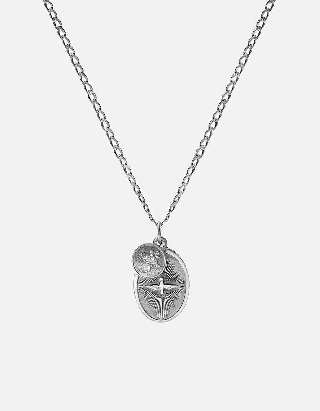 Miansai Dove Pendant Necklace, Sterling Silver, Oxidized