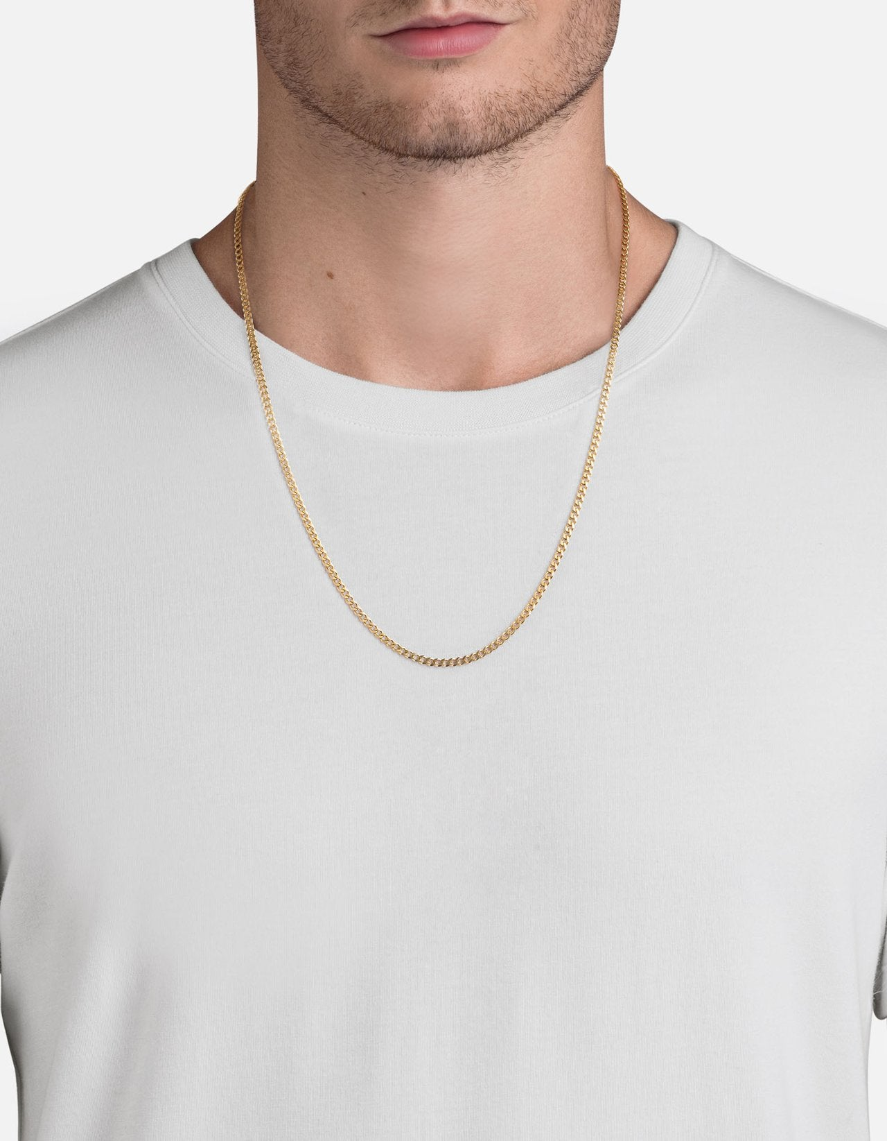 Miansai 3mm 14k Yellow Gold Chain Necklace, Matte