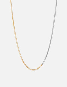Miansai 3mm Cuban Chain, Matte Oxidized/Polished 14k Yellow Gold